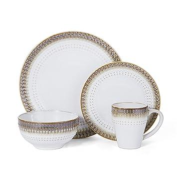 pfaltzgraff celina 16piece stoneware dinnerware set service for 4 - Pfaltzgraff Patterns