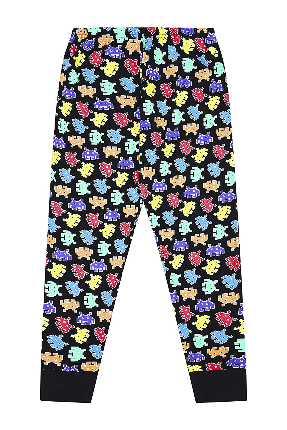 Game Over Space Invaders Gaming Black Cotton Long Pyjamas