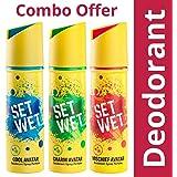 Set Wet Deodorant Spray Perfume, 150ml (Cool, Charm and Mischief Avatar, Pack of 3)