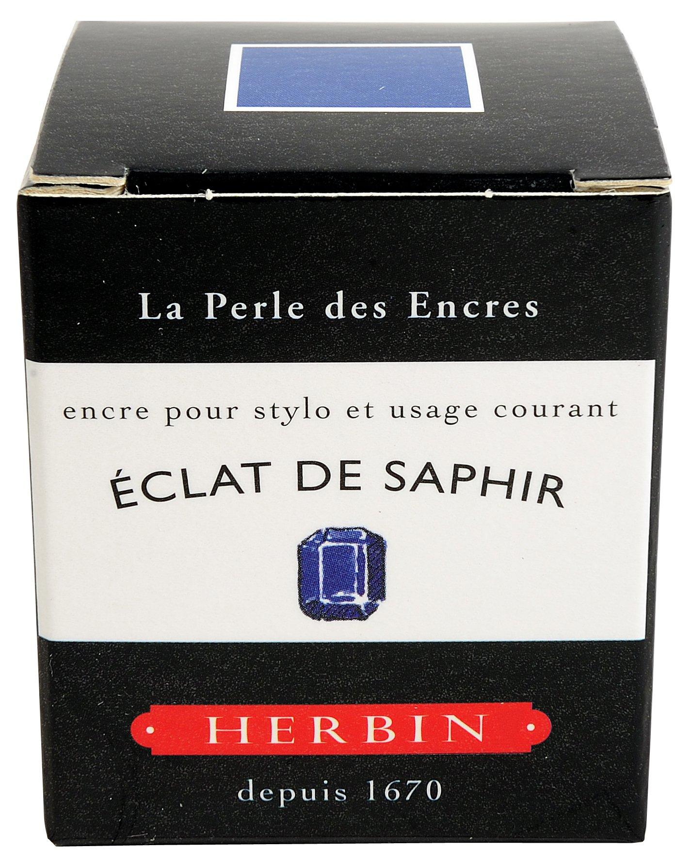 Herbin Fountn Pen Ink 30Ml Eclat De Saphir