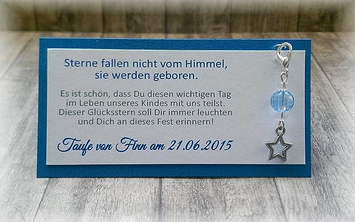 Gastgeschenk Tischkarte Tischdeko Deko Stern Taufe Kommunion