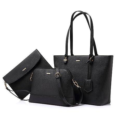 Handtaschen Damen Schultertasche Handtasche Tragetasche Damen Groß Designer Elegant Ümhängetasche Henkeltasche Set 3-teiliges