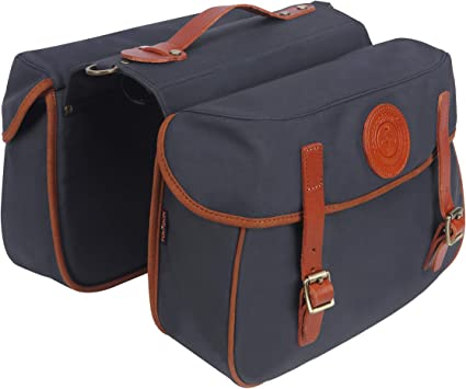 Tourbon Canvas Bike Laptop Travel Backpack Single Rear Pannier Bag Waterproof US