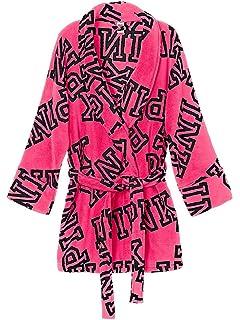Victoria s Secret Pink Robe Plaid Red   Black Dog Logo at Amazon ... 00bb87b5f