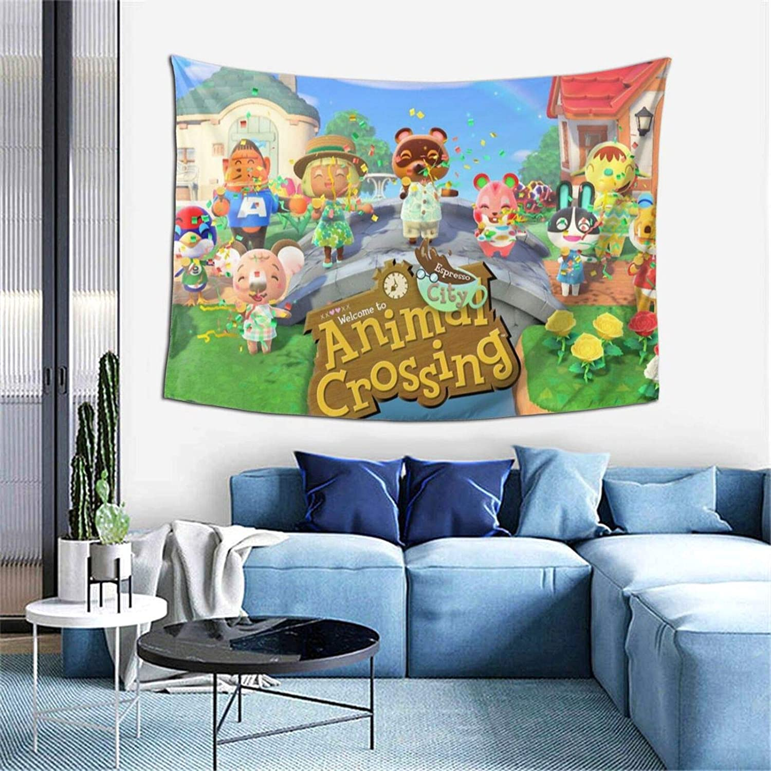 Bestrgi Fashion Tapestry A-ni-m-al Wall Decor Cro-ss-ing Tapestry Hanging for Adult Kids Gifts Art Home Decorations Bedroom Living Room Office Decorative Tapestry 60x40 Inches Cover