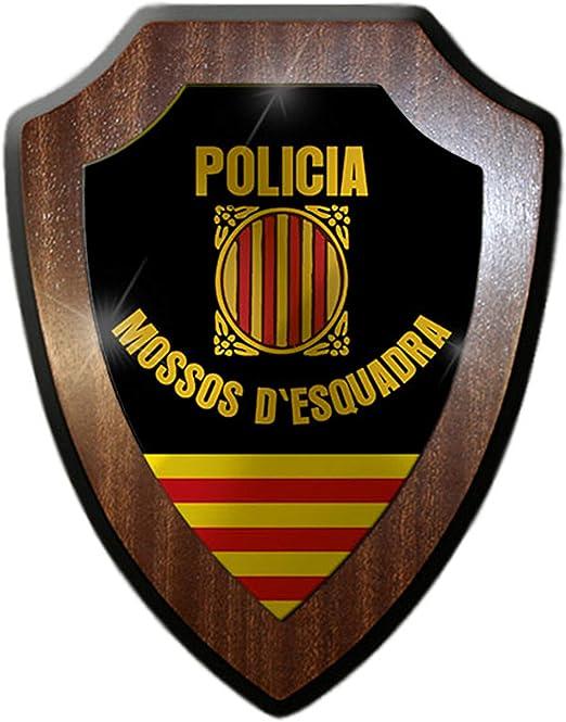 Cartel con escudo de Policia Mossos dEsquadra, Policía, Cataluña ...