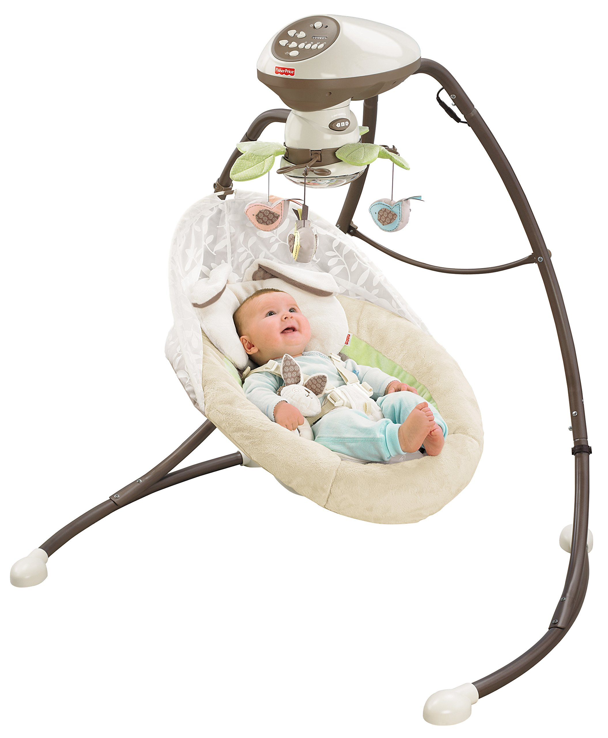 Fisher-Price Snugabunny Cradle 'n Swing with Smart Swing Technology by Fisher-Price (Image #11)