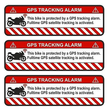 Finest-Folia 9 x GPS Bicicleta y Motocicleta Auto Alerta de Alarma Anti Robo Pegatinas Tracker gesichert