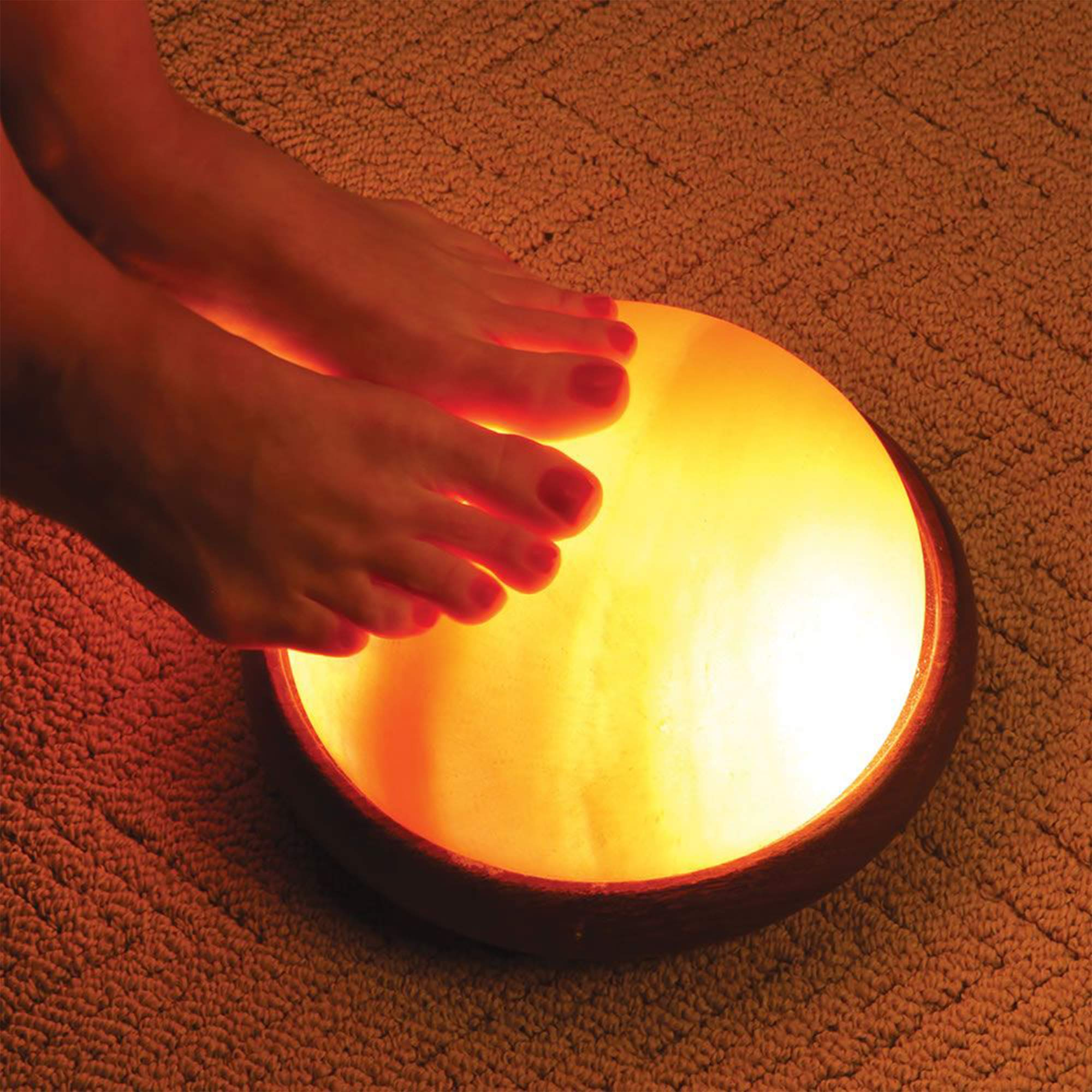 Himalayan Foot Detox Dome Salt Lamp | Remove Toxins & Relax Tired & Achy Feet | 8-11lbs by Himalayan Glow (Image #6)