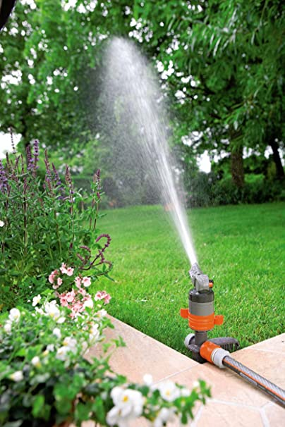 Amazon.com : Gardena 38144 Silent Turbo Drive Sprinkler on Step Spike : Oscillator Lawn And Garden Sprinklers : Garden & Outdoor