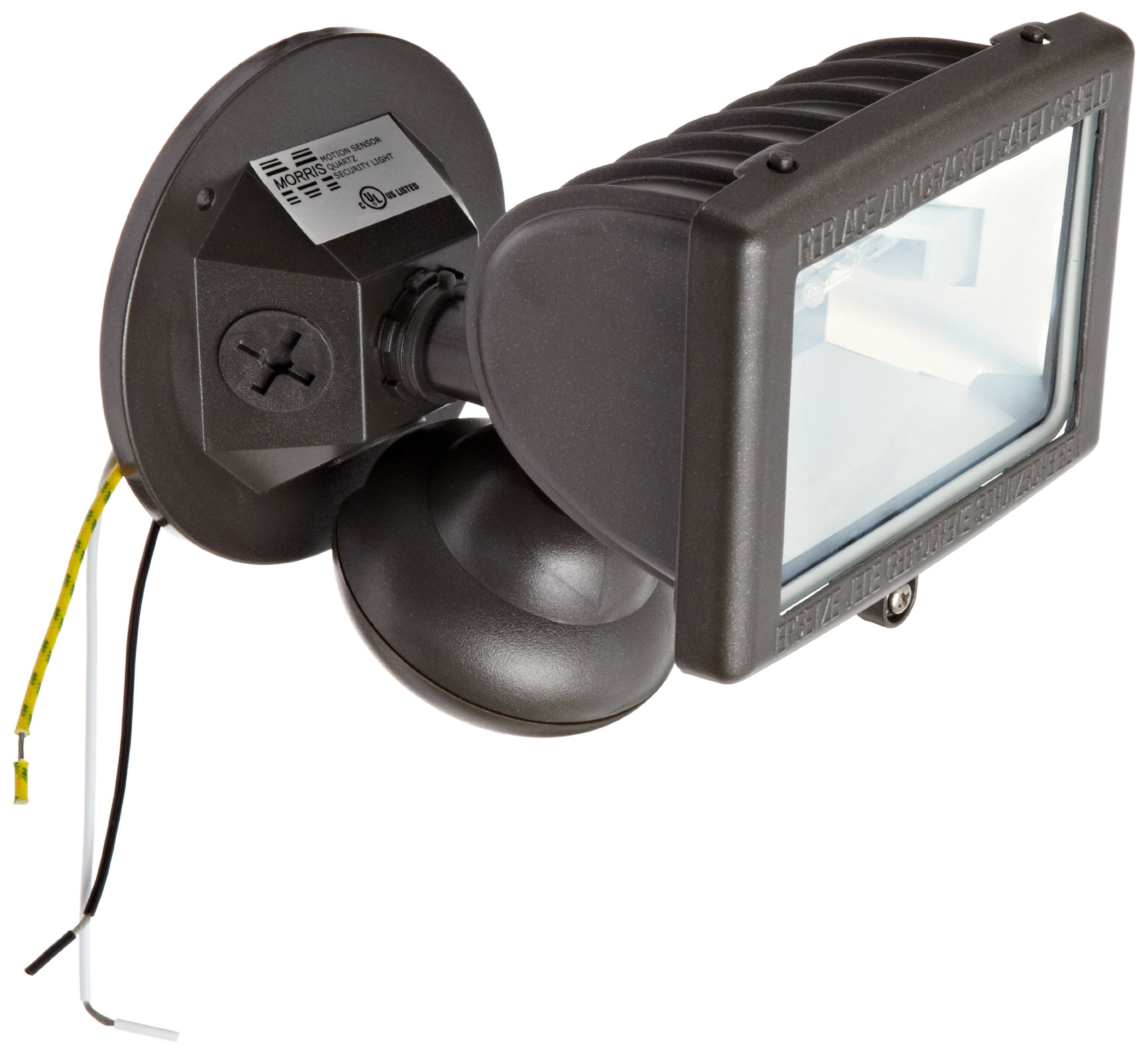 Morris Products 73220 Motion Activated Halogen Light, Bronze