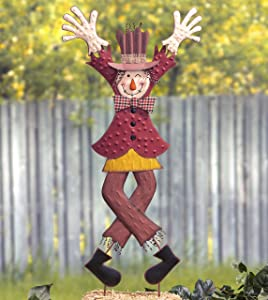 The Lakeside Collection Winking Scarecrow Garden Stake - Halloween Yard Decoration