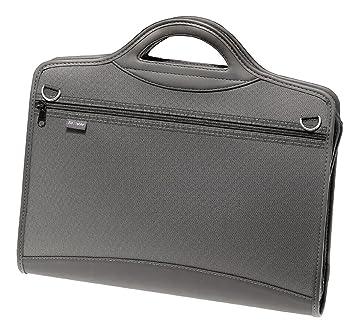 Snopake 15309 - Maletín archivador (4 compartimentos, tamaño A4, cierre con cremallera), color negro: Amazon.es: Oficina y papelería