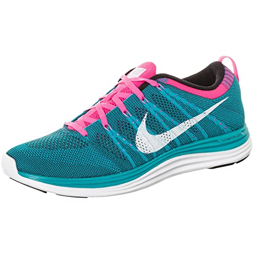 sports shoes 1bd5e c3c8d Flyknit One, Neo Turquoise White-sqaudron Blue-Pink Flash, 8.5 M