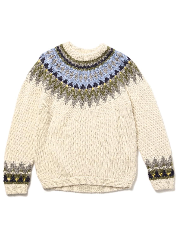 Amazon | (ビームスボーイ) BEAMS BOY / 手編み ノルディック クルー 16AW 13150297 | セーター 通販