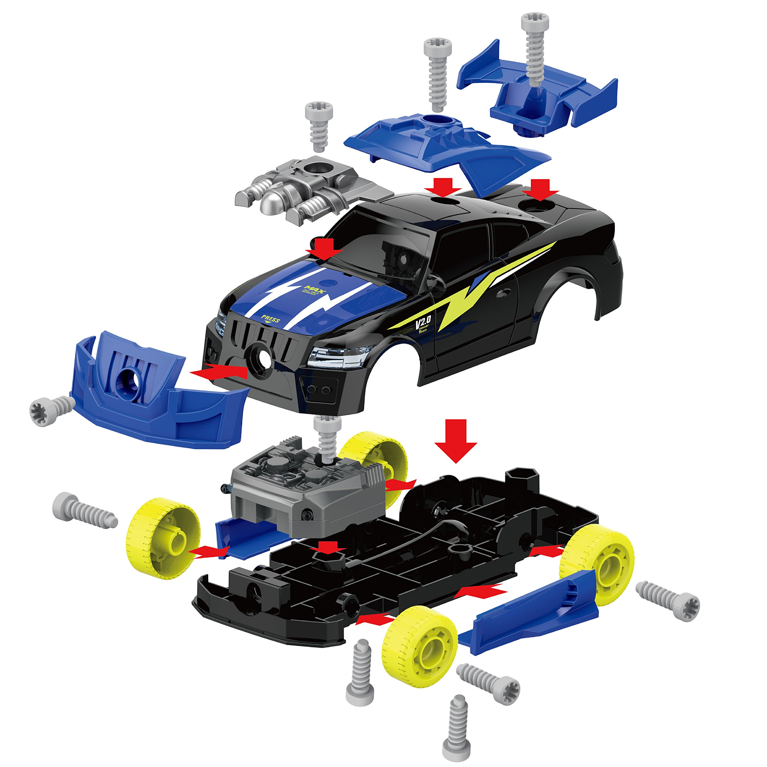 Maxxrace Take Apart Racing Car, STEM Toys 26 Pieces Assembly Car Toys with Drill Tool, Lights and Sounds, Gifts for Kids Aged 3+ by Maxxrace (Image #3)