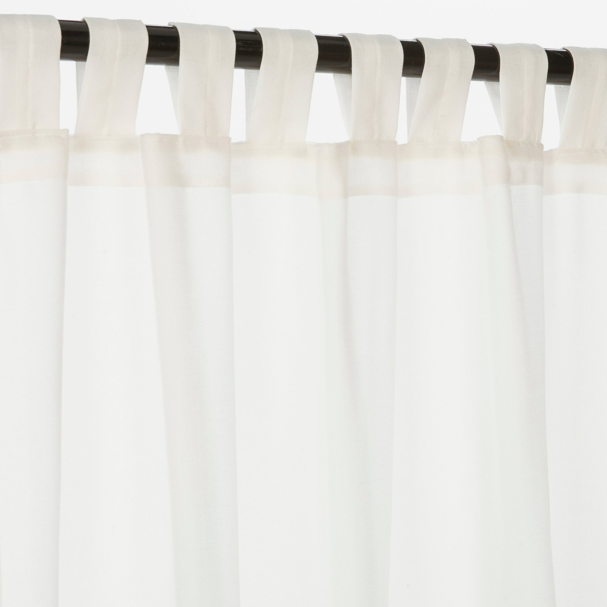 Sunbrella Outdoor Curtain with Tab Top - Snow(Sheer), 50x96