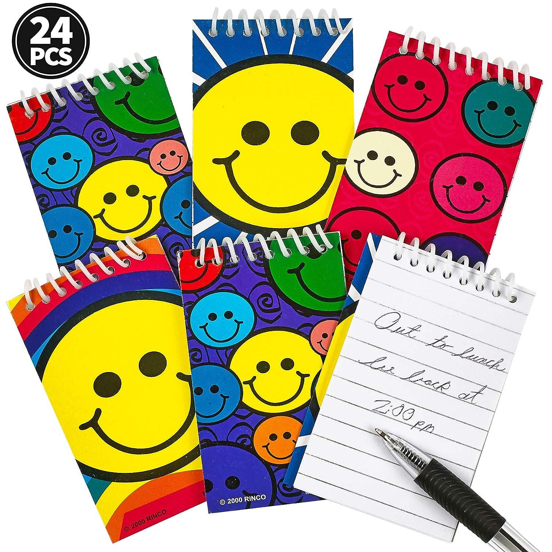 20 Mini Smiley Face Notebooks