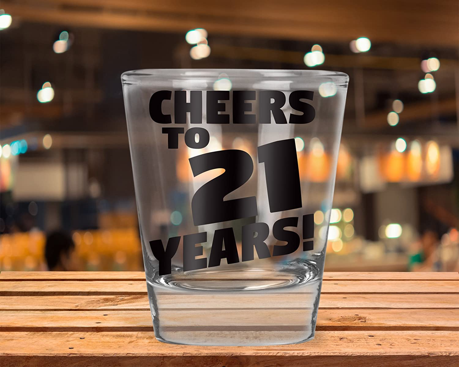 AW Fashions Cheers to 21 Years 21st Birthday Gift Party Shot Glass