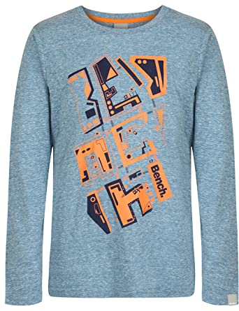 4dc64163f13 Bench Boy s Shirt Long Sleeve Overhead City - Sports Jumper - Turquoise  (Lyons Blue)