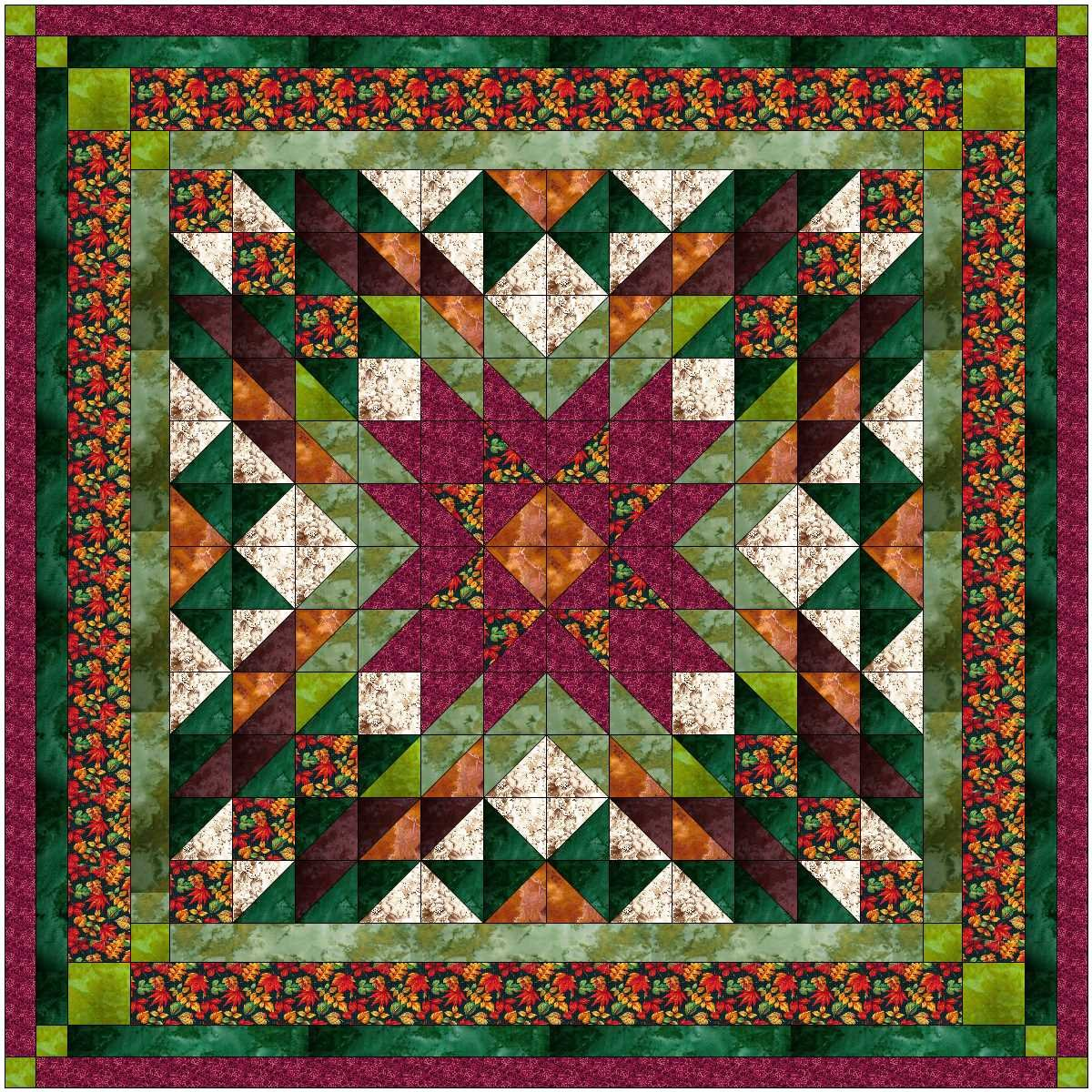 Easy Quilt Kit Camouflage Autumn Star/Expedited Shipping