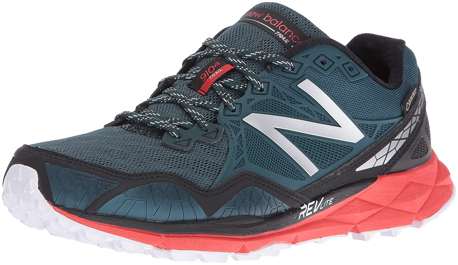 outlet store 646fe 4a9c9 New Balance Men s MT910V3 Trail Shoe-M Running, Green Red, 7.5 D US   Amazon.com.au  Fashion