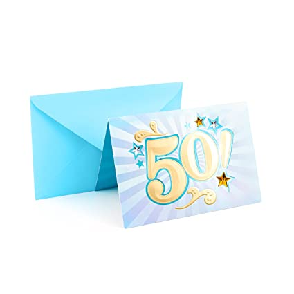 Amazon Hallmark 50th Birthday Card Bling Office Products