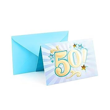 Amazon Hallmark 50th Birthday Card Bling Office Products