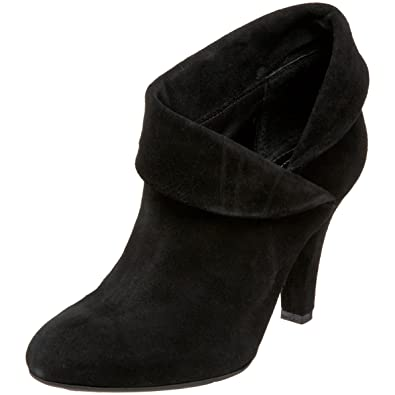 Enzo Angiolini Women s Black Suede Round Toe High Heel Ankle Boots Shoes de09735d1