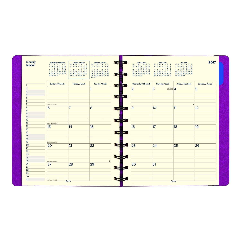 Amazon.com : Filofax Monthly Planner, English/French/Spanish ...