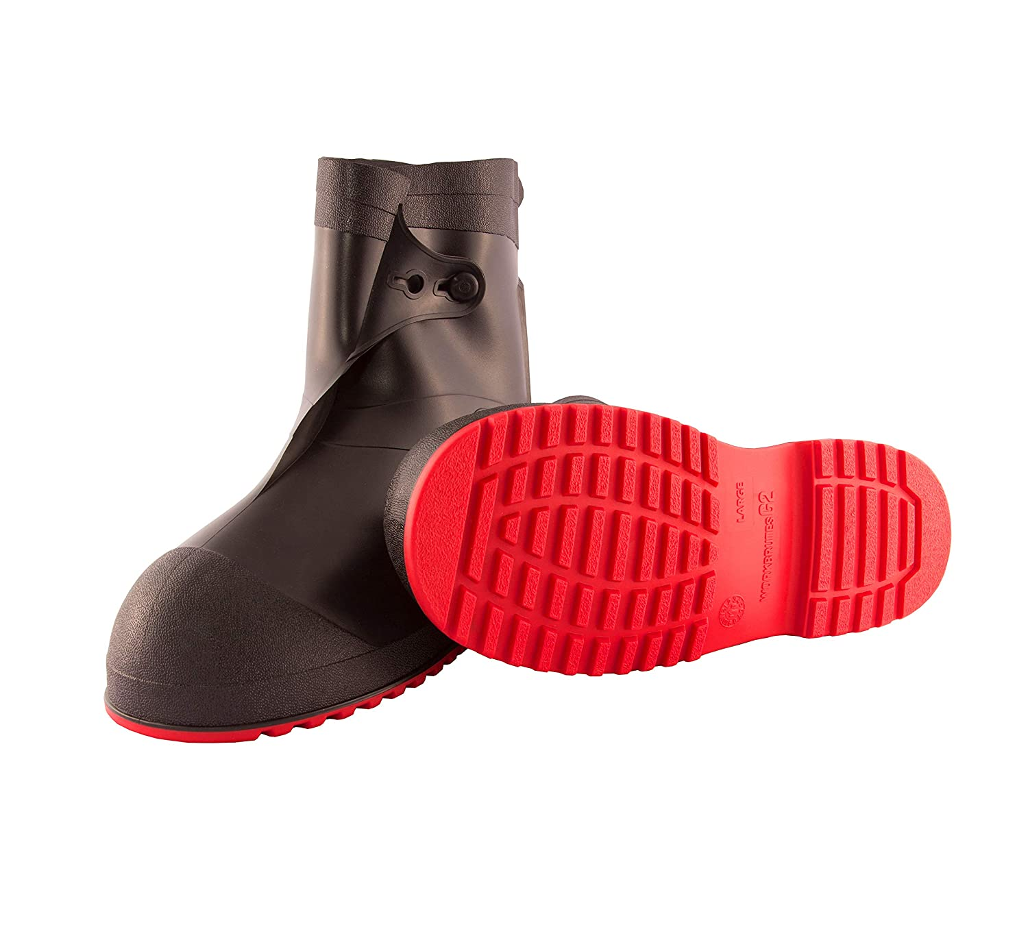 Tingley Workbrutes G2 PVC Overshoe Red Sole - Black Upper Cleated Outsole 10 Ht