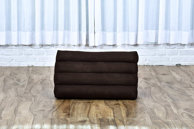 black Leewadee Triangle Cushion Reading Pillow Backrest TV Pillow Eco-Friendly Organic And Natural Kapok 50x33x33 cm