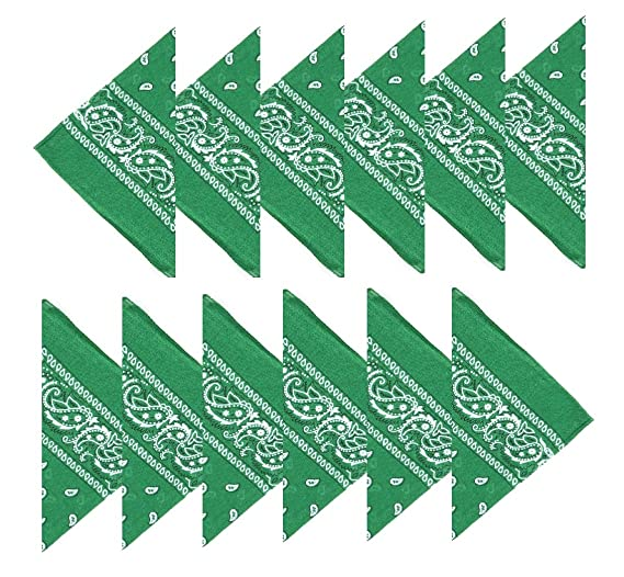BOOLAVARD (100% Cotone) 3 pz 6 pz 12 pz Bandane ai Capelli al Collo in Testa Modelli di Paisley Sciarpa Fazzoletti da Taschino