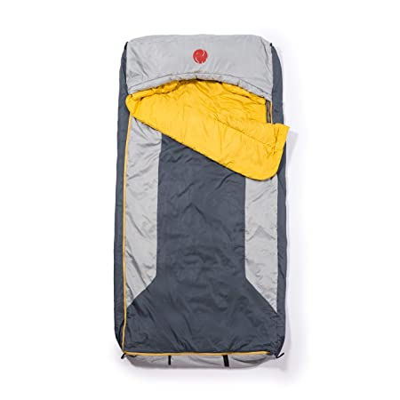 OmniCore Designs Multi Down Hooded Rectangular Cold Weather Sleeping Bag, Temp -10F to 30F Sizes Reg, Tall Double Wide Accessories 4pt. Compression Stuff Sack and 110L Mesh Storage Sack