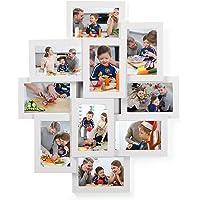 SONGMICS Cadre Photo Pêle-mêle Mural Capacité 10 Photos DE 10 x 15 cm MDF