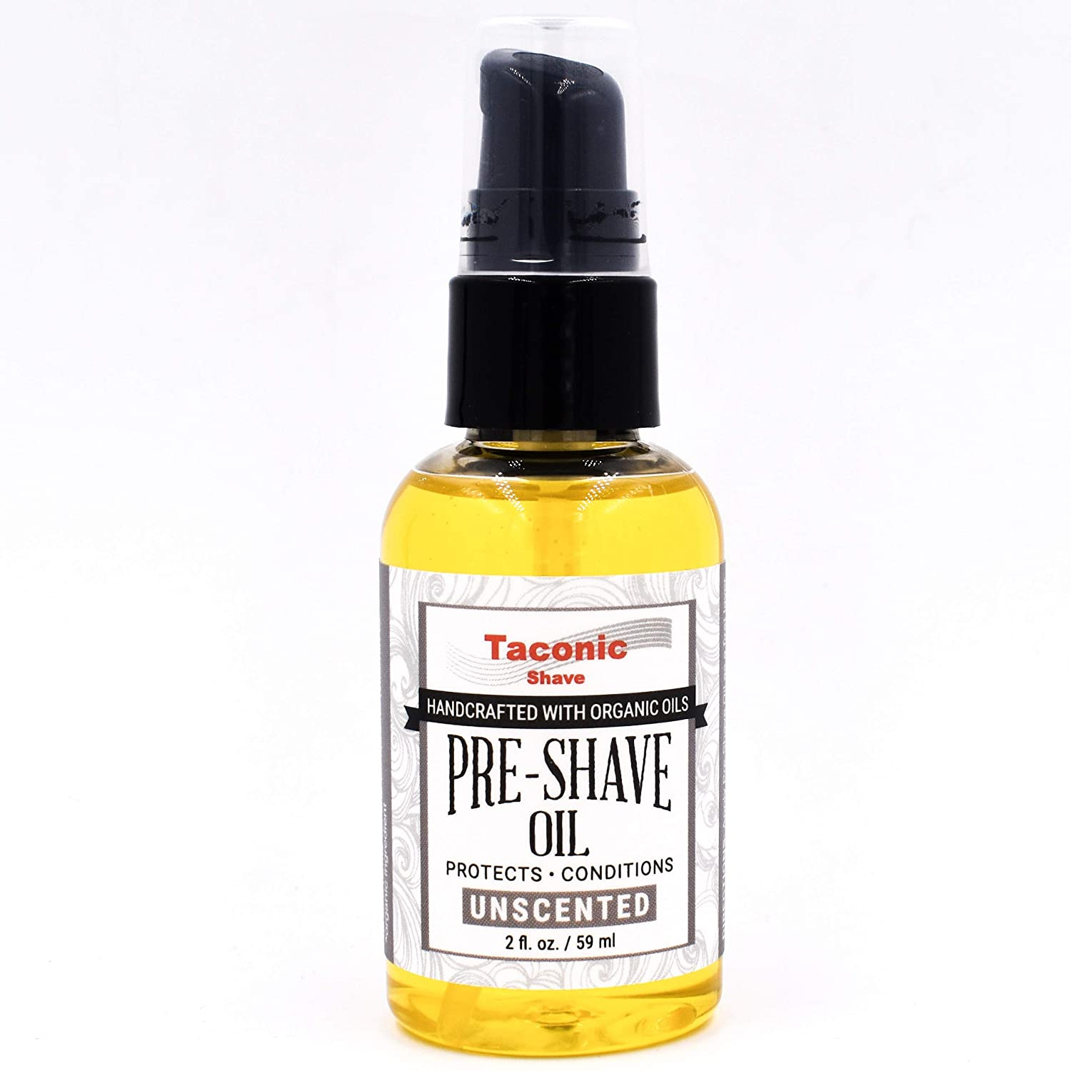 Taconic Shave Premium All Natural Pre-Shave Oil (2 oz.) - Unscented - Made in The USA