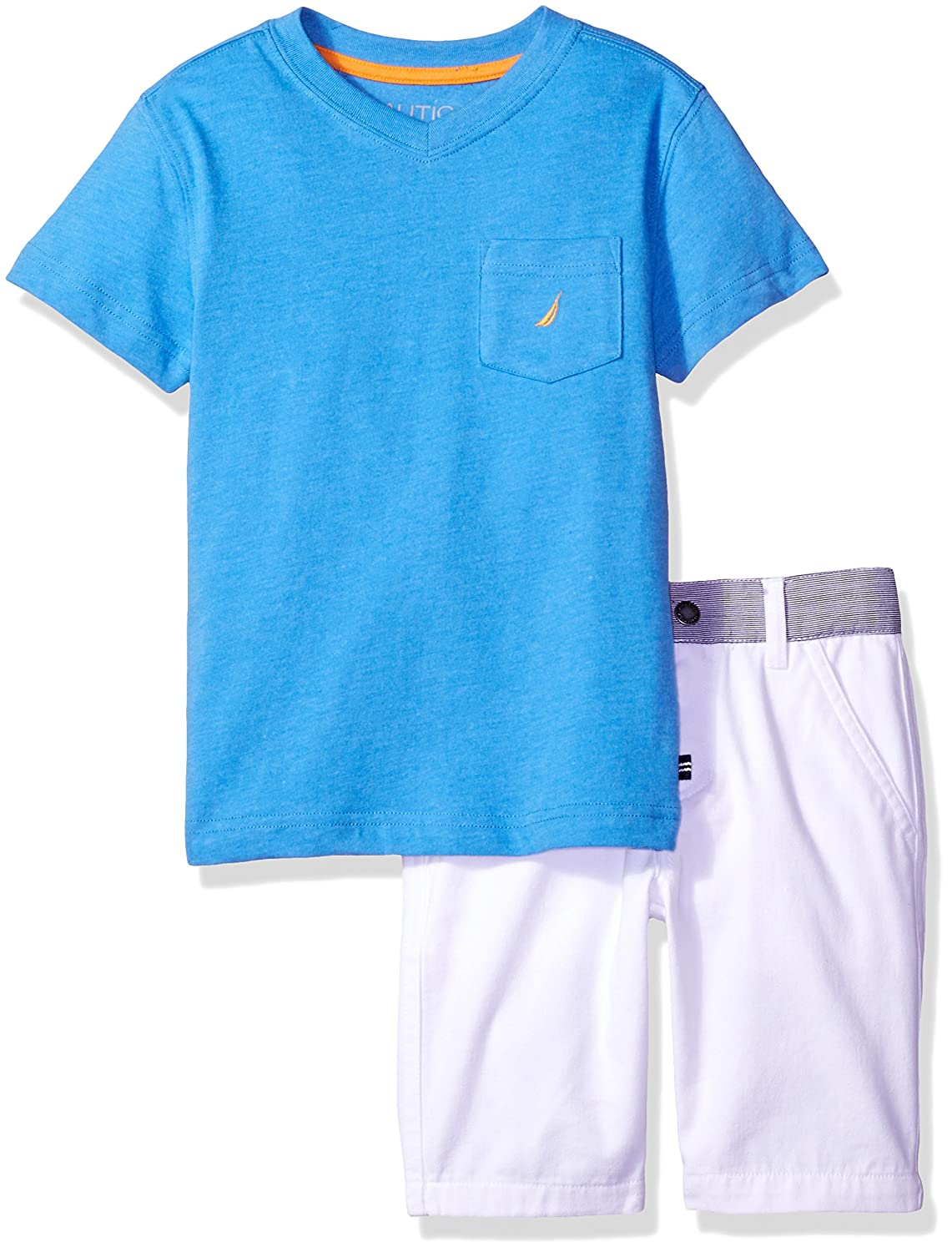 Nautica Boys' Two Piece Set with Pocket Tee and Pull on Short 62E52077-99