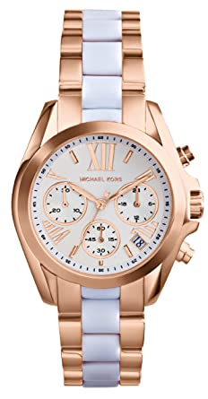 b966dcde8c11 Amazon.com  Michael Kors Women s Safari Chic Mini Bradshaw Watch ...