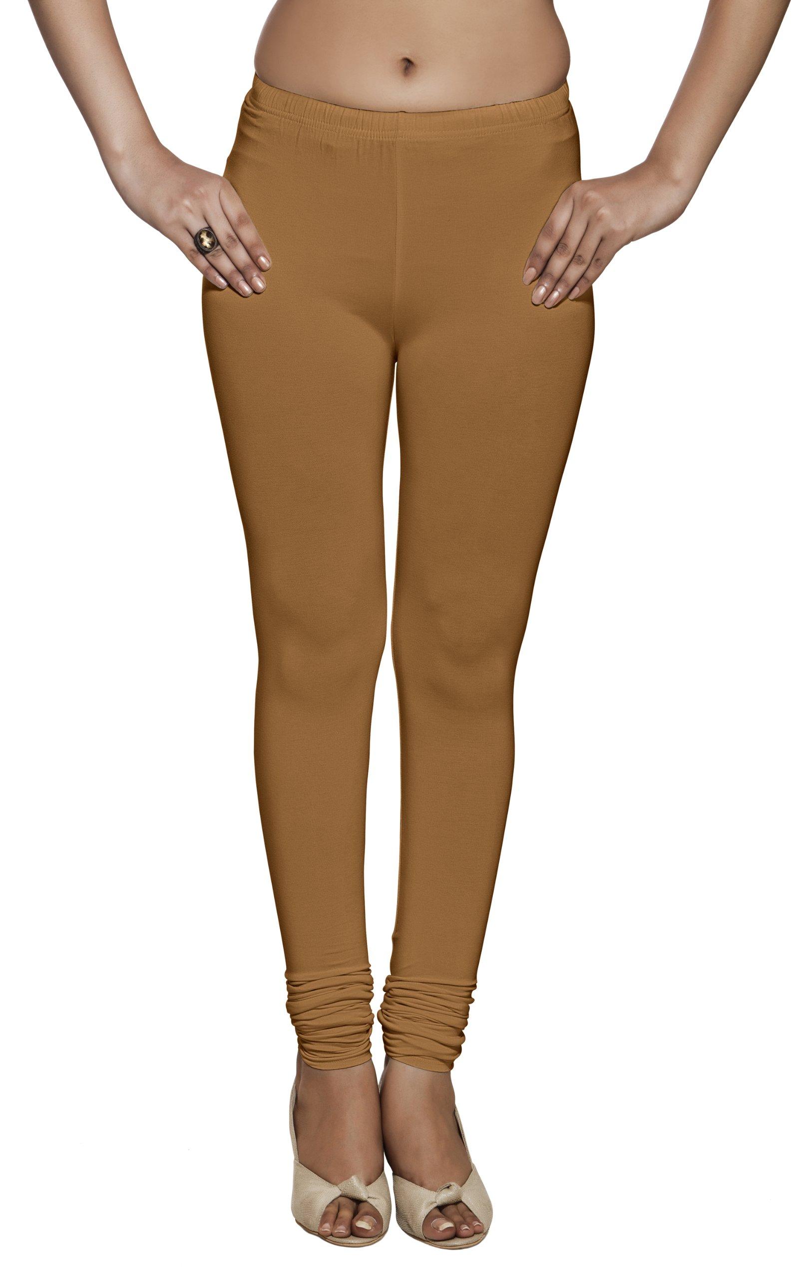 Rangmanch Womens Indian Ethnic Viscose Strech Leggings Pants Bottomwear Ochre Large