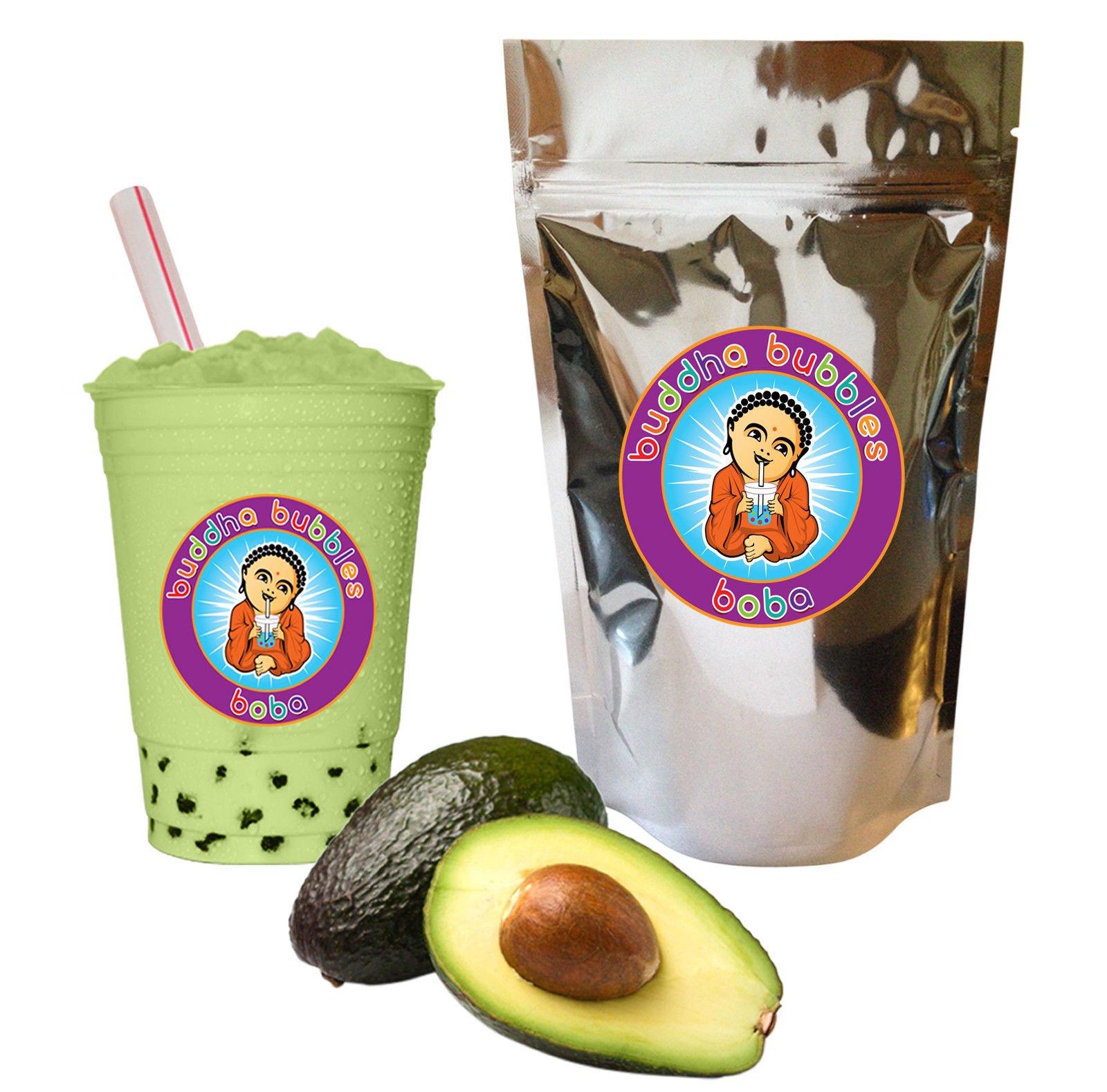 Avocado Bubble Boba Tea Drink Mix Powder Buddha Bubbles Boba 1 Kilo (2.2 Pounds) | (1000 Grams) by Buddha Bubbles Boba