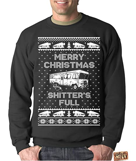 28704774d623 Vintage Fly Adult Ugly Christmas Sweater Shitters Full Christmas Vacation  Sweatshirt