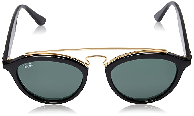 fd76f6f8b2 Amazon.com  Ray-Ban INJECTED WOMAN SUNGLASS - BLACK Frame DARK GREEN Lenses  50mm Non-Polarized  Ray-Ban  Clothing