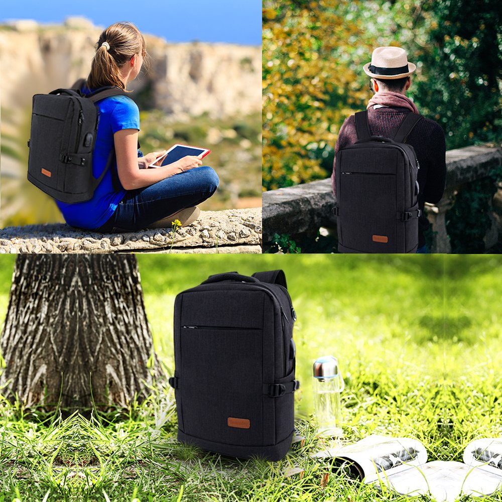 Laptop Backpack, Water Resistant College Students School Bag Travel Computer Backpack for Men Women with USB Charging Port and Headphone Port, Fits Business Laptops Notebooks up to 15.6 Inches by Yomuder (Image #7)