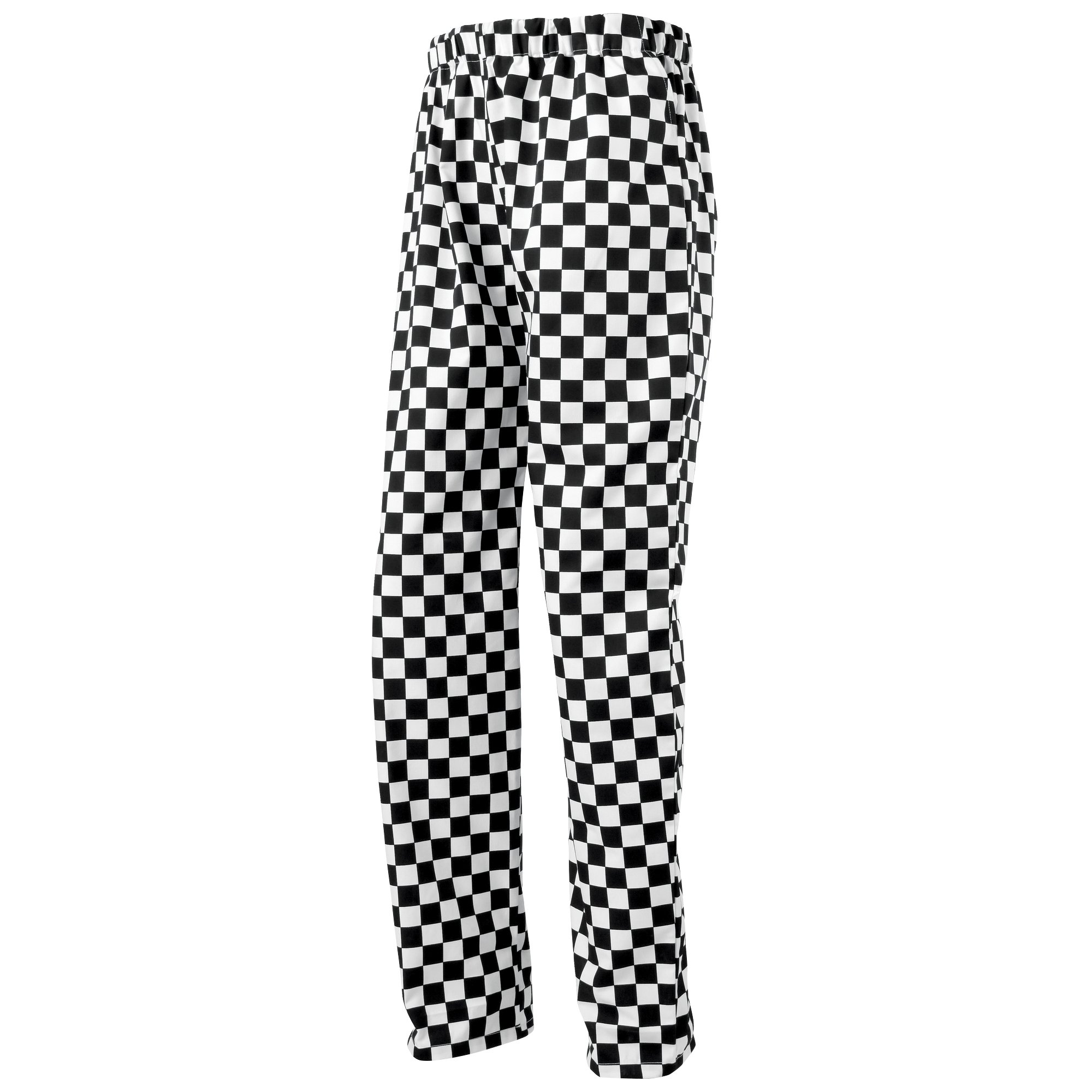 Premier Essential Unisex Chefs Trouser / Catering Workwear (XL) (Black/White (Big Check)) by Premier