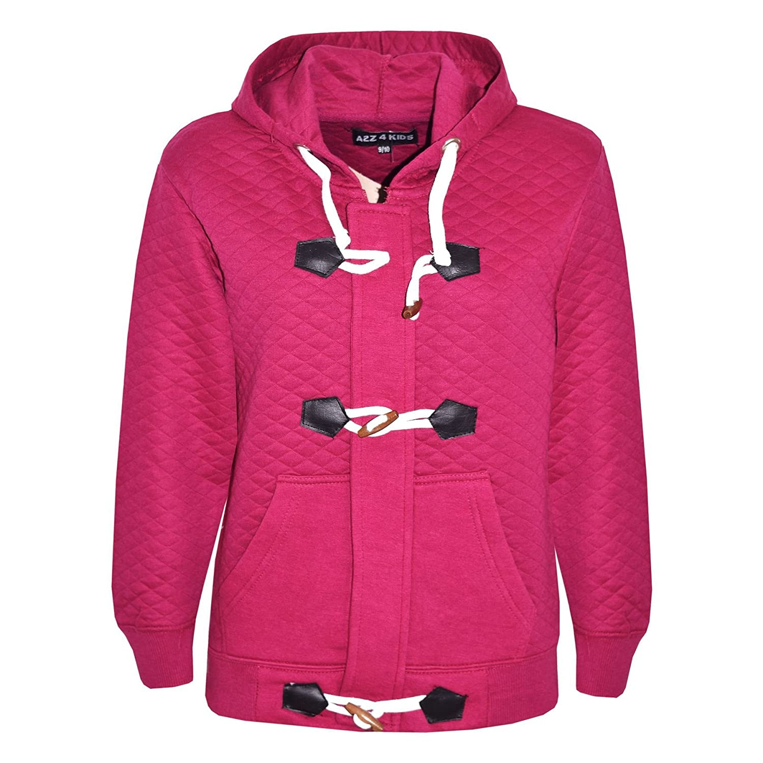 ca9ed270 GIRLS BOYS DUFFEL COAT KIDS QUILTED FLEECE HOODED JACKET HOODIE AGE 7-13  YEAR: Amazon.ca: Clothing & Accessories