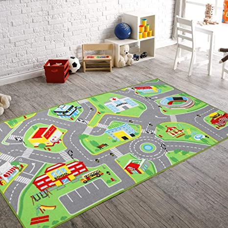 Nice 79u0026quot;X40u0026quot; Kids Rug Play Mat For Toy Cars, Safe,Colorful And