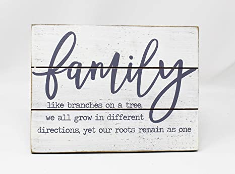 Amazon Com Hobby Lobby Table Decor Family Like Branches On A Tree 8 X 6 Home Kitchen