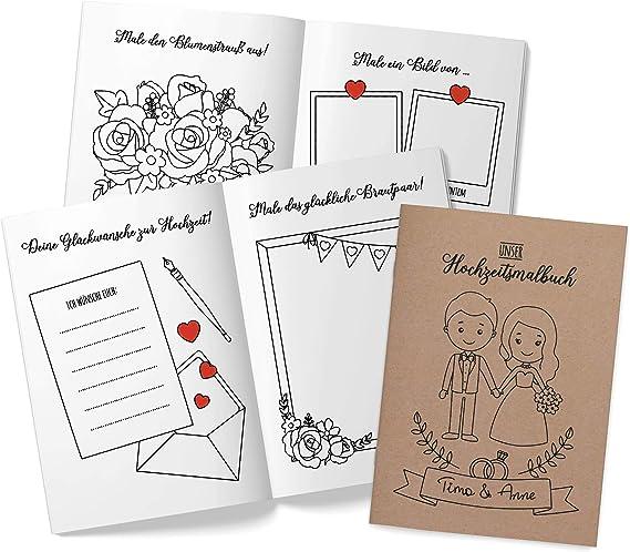 Hochzeitsmalbuch für Kinder mit Buntstiften Kinderbeschäftigung Hochzeit JEKA