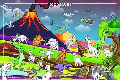 Dinosauri Da Colorare Poster Amazonit Cancelleria E Prodotti