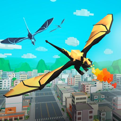 Pixel Dragon Hills: Fire Attack | City Destroying Games Dangerous Animal Simulator Mystical Creature Assault Beast Attack